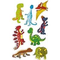 Avery Zweckform 57293 Glittersticker, dinosaurus, 8 stickers (zelfklevende kleurrijke kinderstickers om te spelen…