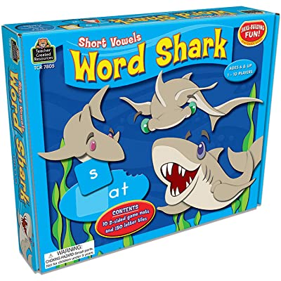 Teacher Created Resources Word Shark: Short Vowels Game (7805), Multicolor: Office Products