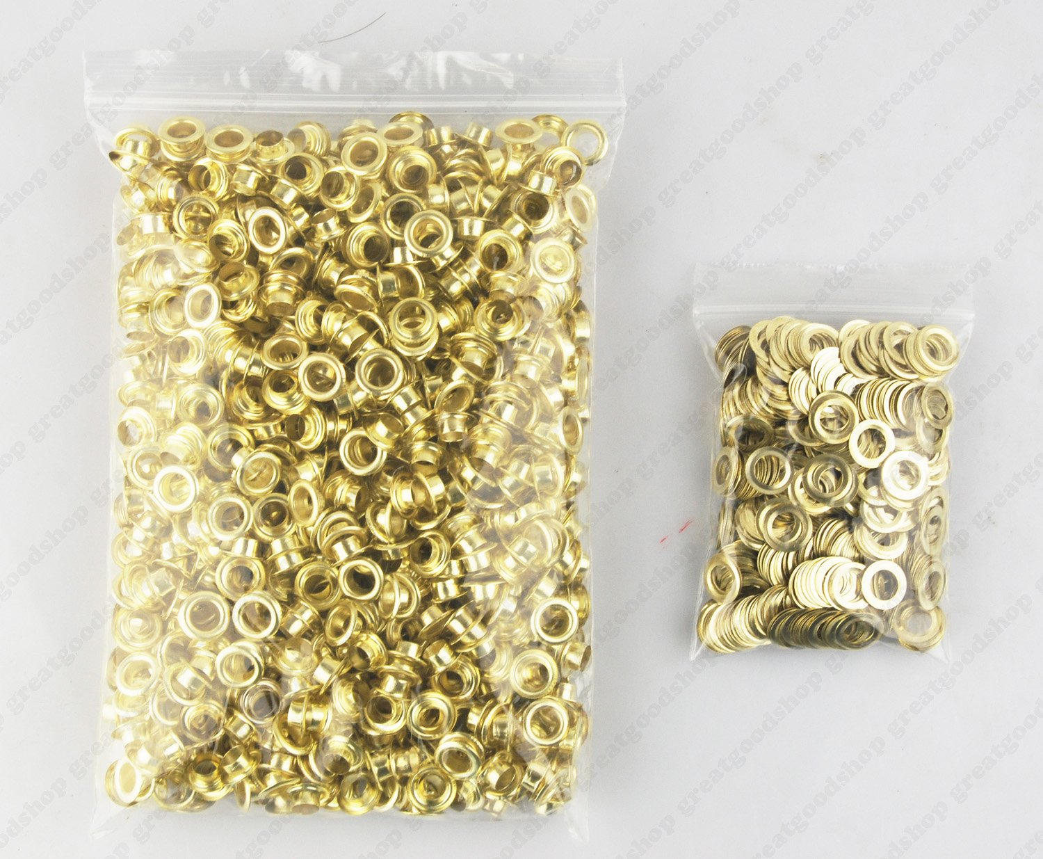 LIPOVOLT 400 PCS Plating Eyelets with Washers Clothing Grommets Scrapbook 8mm Diameter