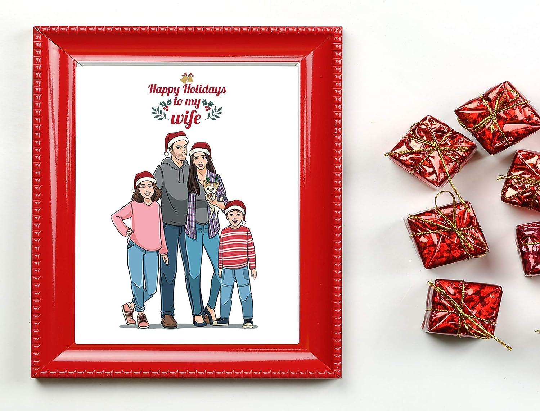 Amazon Com Custom Portrait Drawing Thoughtful Christmas