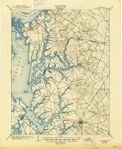 Amazon.com: YellowMaps St Michaels MD topo map, 1:62500 Scale, 15 X ...