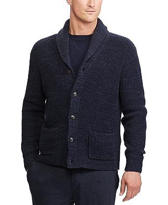 Polo Ralph Lauren Men\u0027s Shawl-Collar Cardigan (Navy, XL) at Amazon Men\u0027s  Clothing store: