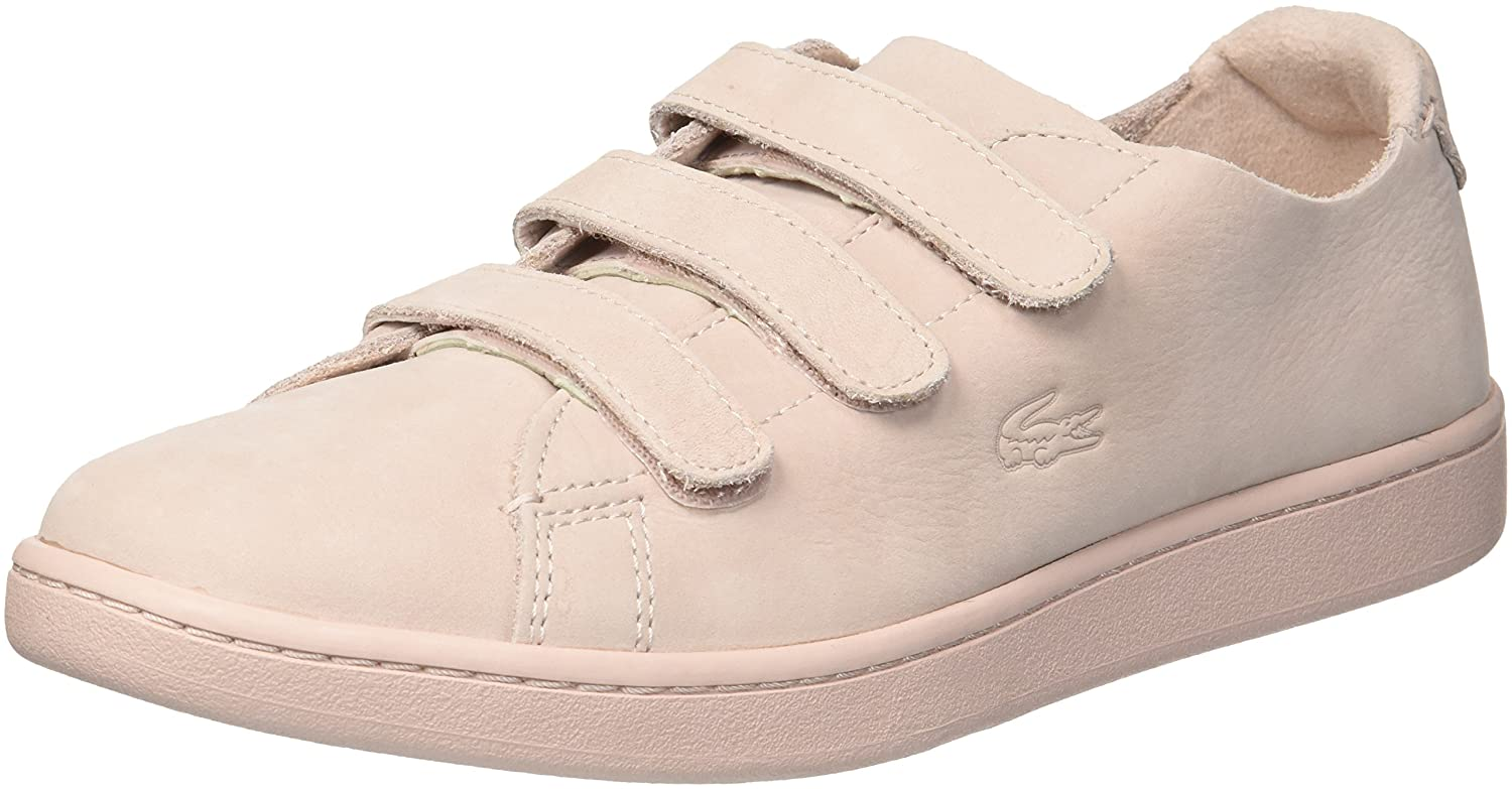 Lacoste Women's Carnaby Strap Sneaker B07BW86KFQ 8 B(M) US|Light Pink/Light Pink