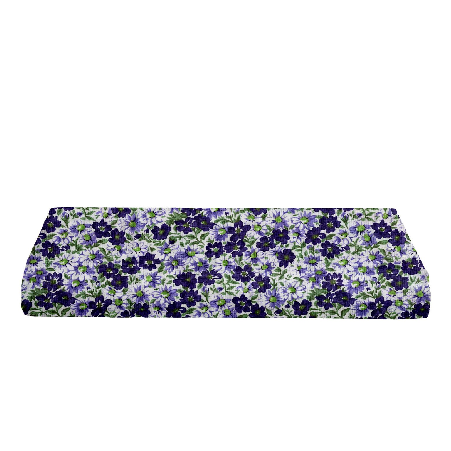 BKB Changing Table Pad Cover, Flower Patch Purple