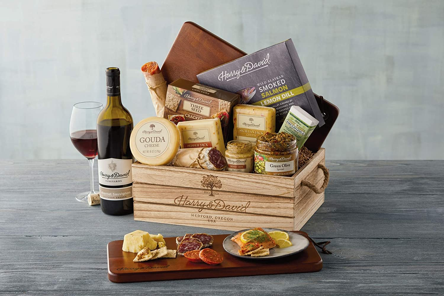 Com Harry David Supreme Meat And Cheese Gift Box Grocery Gourmet Food