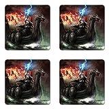 Ambesonne Fantasy World Coaster Set of