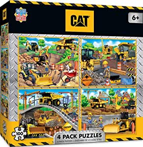 Caterpillar - 4 Pack 100Pc Puzzles