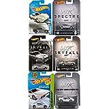 James Bond Exclusive Skyfall Hot Wheels Edition + Daniel Craig Spectre Retro Set Hot Wheels Aston Martin DB10 & DB5 Silver Model Car 007 The Spy Who Loved ME Lotus Esprit Retro Entertainment