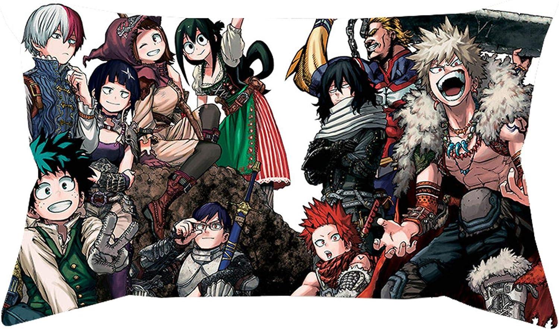 Teblacker My Hero Academia Collage Anime Present Mic Funda de Almohada Cojín Funda de Almohada Sofá Decoración del hogar 50X30cm(Multi-Style14)