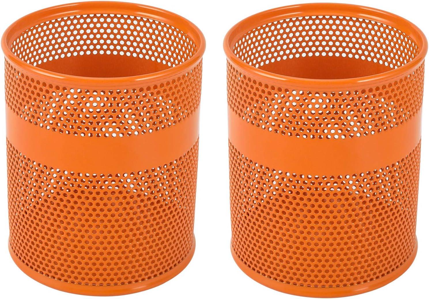 EasyPAG Arancione Set di 2 portapenne in rete colore