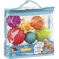 Bolsa Bolas sensoriales 6 pcs Molto con Diferentes Texturas y Colores, Libre de BFA, a Partir de 6 Meses. Juguete bebé…