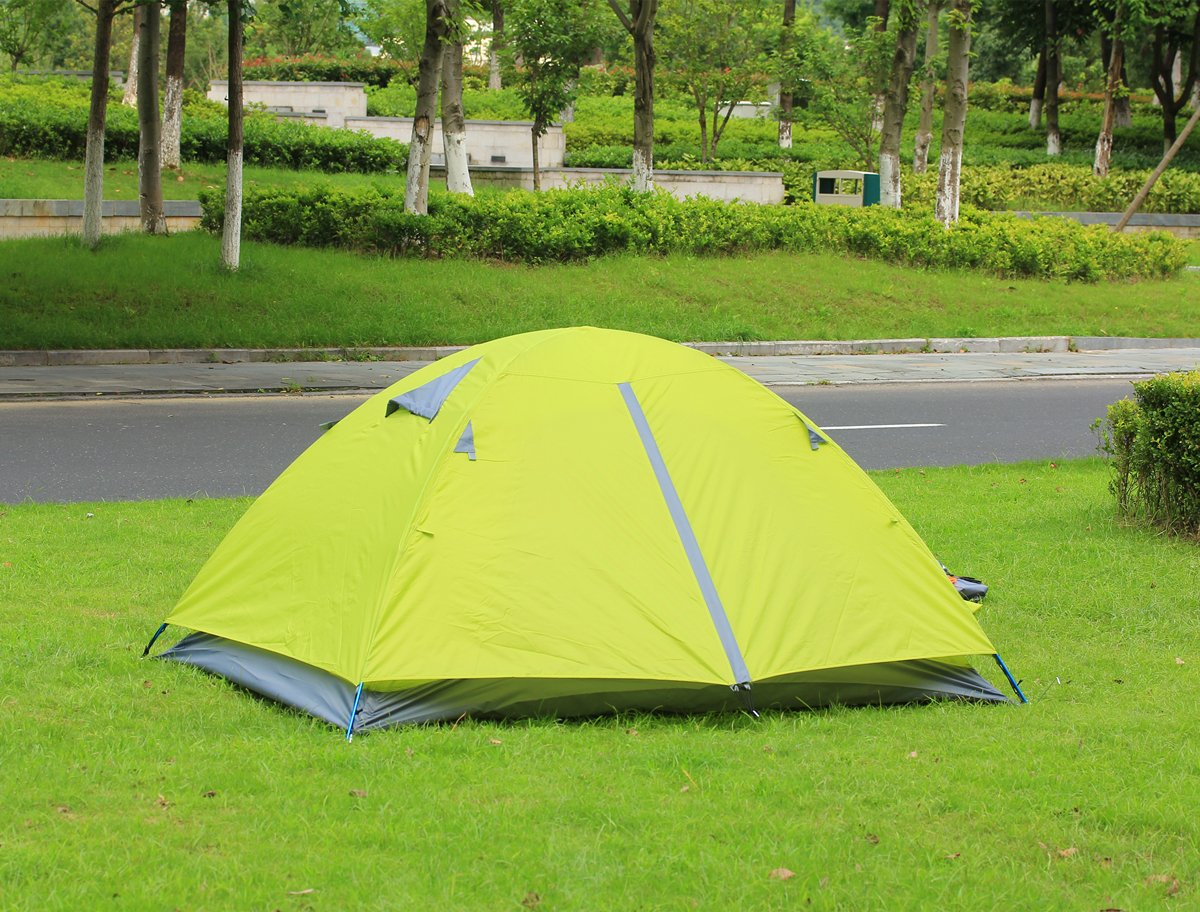 Lightweight Tents for Camping Hiking with Carrying Bag Top-Elecmart E EVERKING 2 Person Double Layer Camping Tent Double Person 4 Seasons Waterproof Backpacking Tent