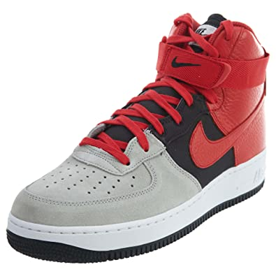73c66bf8f Nike Air Force 1 High '07 LV8 Men's Shoes Wolf Grey/University Red 806403