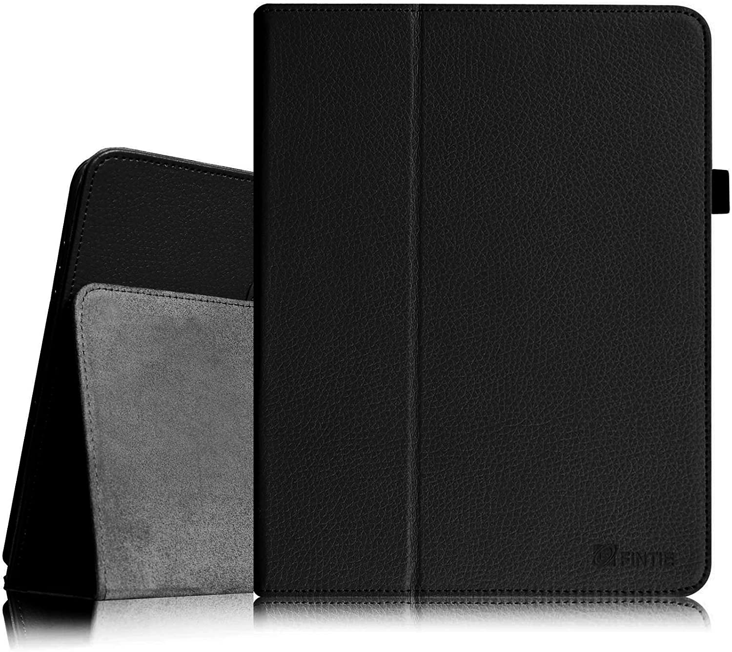 Fintie Folio Case for Original iPad 1st Generation - Slim Fit Vegan Leather Stand Cover with Stylus Holder for iPad 1st Generation 2010, Black
