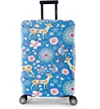 Periea Elasticated Suitcase Luggage Cover - 13 Different Designs - Small, Medium or Large (Blue Animals, Large)