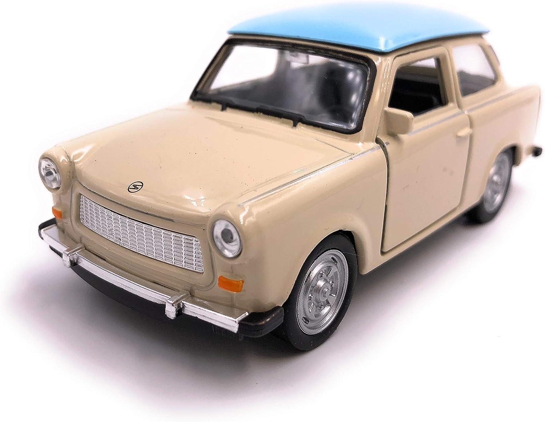 H Customs Trabant Trabi Modellauto Auto Lizenzprodukt 1 34 1 39 Braun Weiß Auto