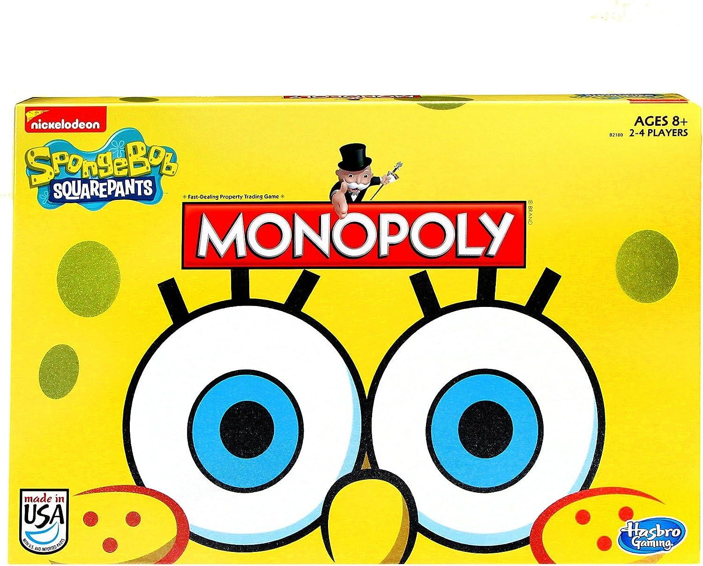 Hasbro Monopoly Juego Esponja Bob, edición Cuadrada: Amazon.es: Juguetes y juegos