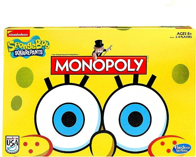 Juego Monopoly Bob Esponja Edición Squarepants: Amazon.es: Juguetes y juegos