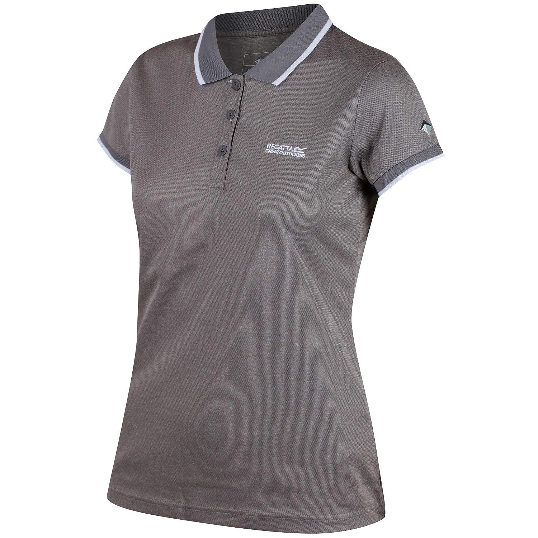 Regatta Womens//Ladies Remex Quick Dry Polyester Marl Casual Polo Shirt