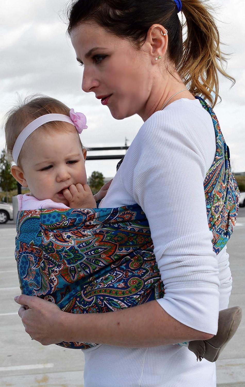 100/% Cotton Lite-on-Shoulder Baby Sling Carrier Adjustable Open Tail,Ergonomic