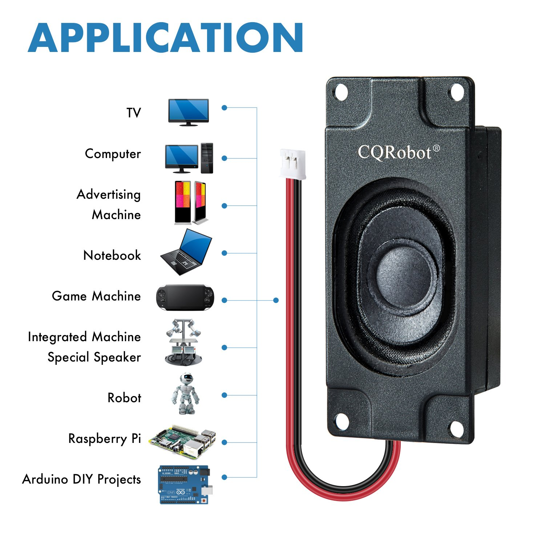 Cqrobot Diy Open Source Electronics Arduino Speaker 3 Watt 8 Ohm Small Projects Of Jst Ph20 Interface