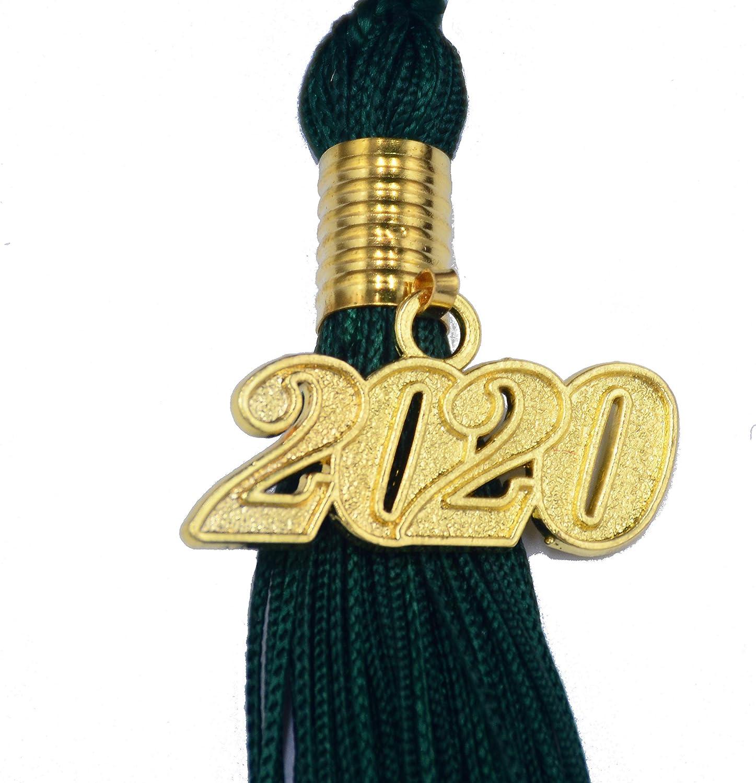 Dark Green, 2020 Makhry 2pcs 15.7 inches//41cm Handmade Silk Graduation Honor Tassel with Year Charm for Graduation Cap,Graduation Gift,Souvenir