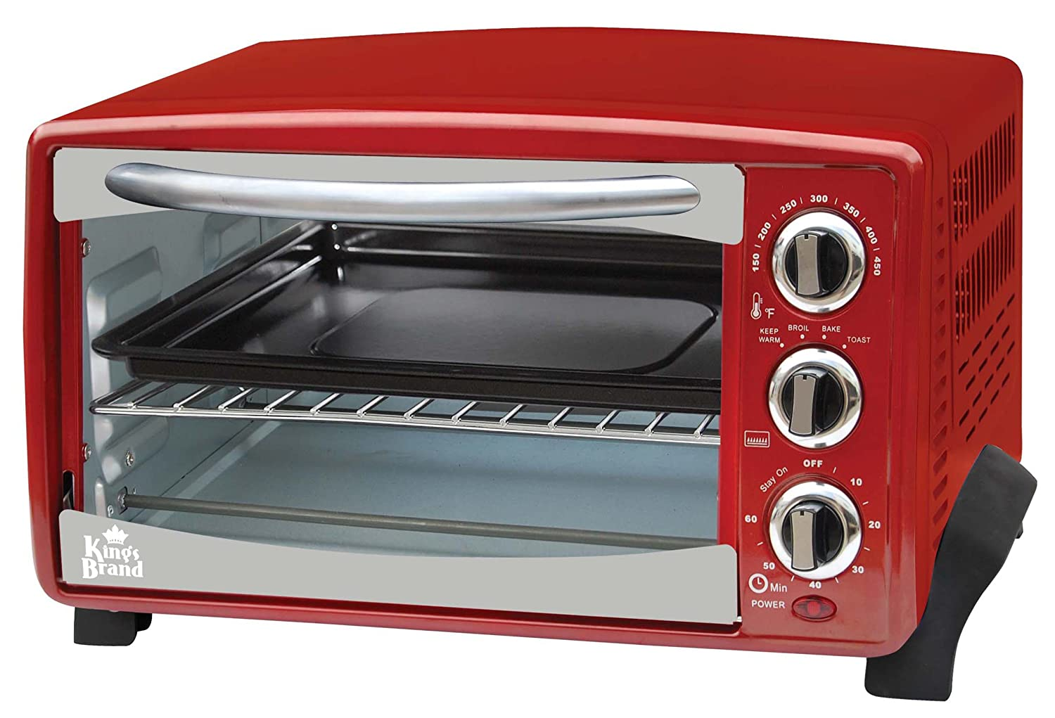 Kings Brand Red 6-Slice Toaster Oven