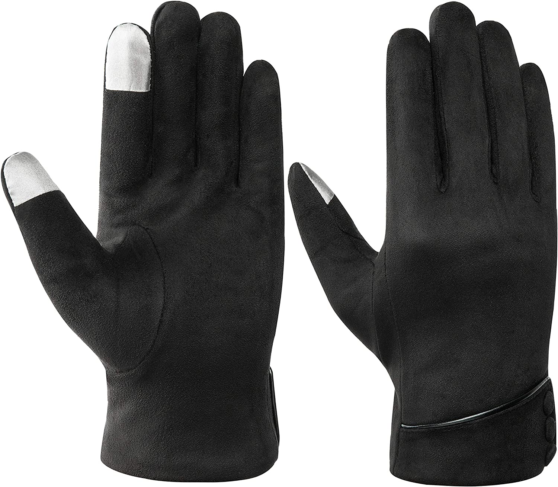 Acdyion Winter Damen Touchscreen Handschuhe Dicke Warm Fleecefutter T/ägliche Freizeit Winterhandschuhe