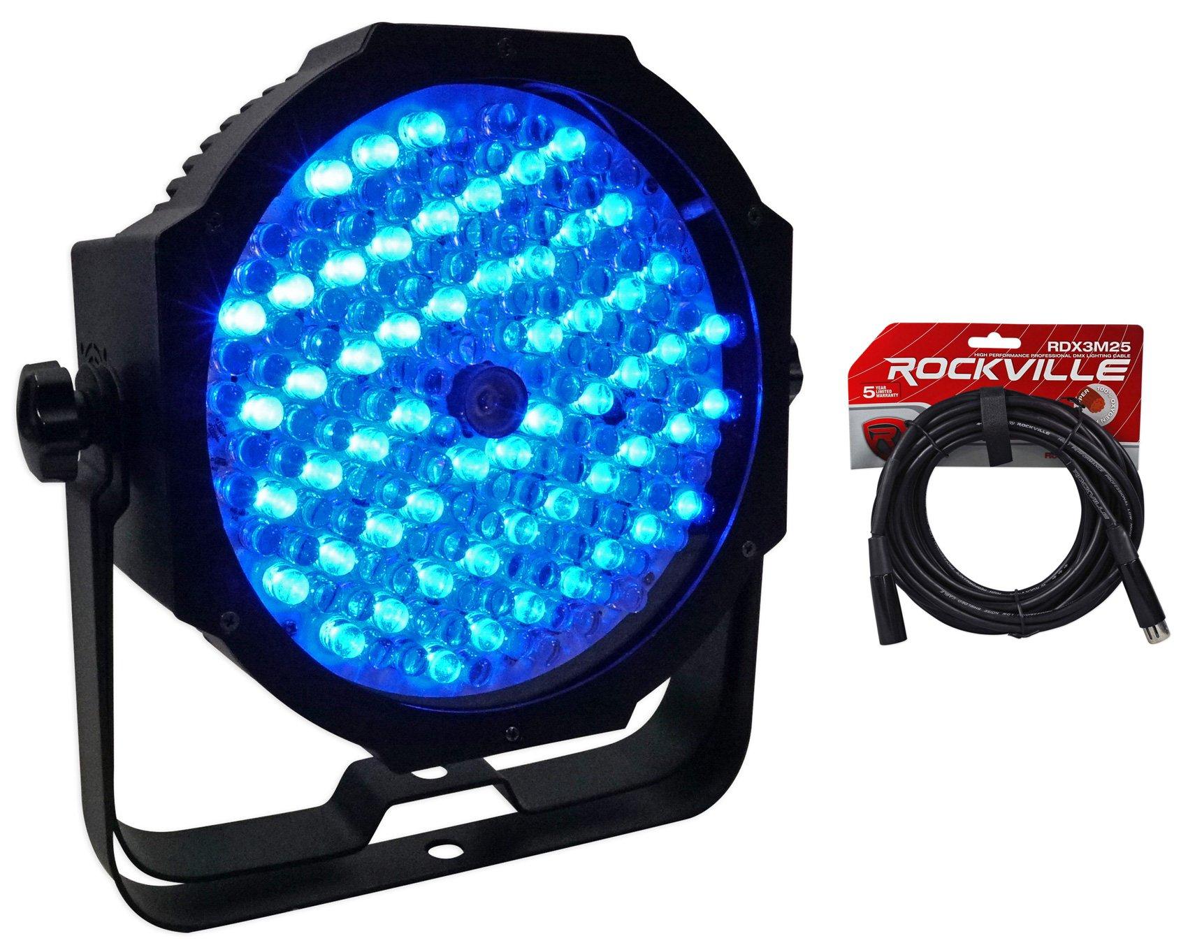 American DJ Mega Go Par64 Plus Battery Powered Par 64 RGB Wash Light+DMX Cable by American DJ