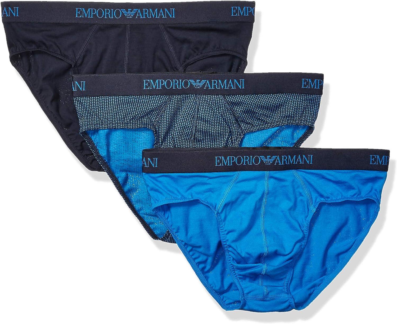 Emporio Armani Men's Cotton Briefs, 3-Pack