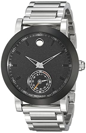 66d09af8e Image Unavailable. Image not available for. Color: Movado Men's 0660001 Stainless  Steel Smart Watch with Black Dial