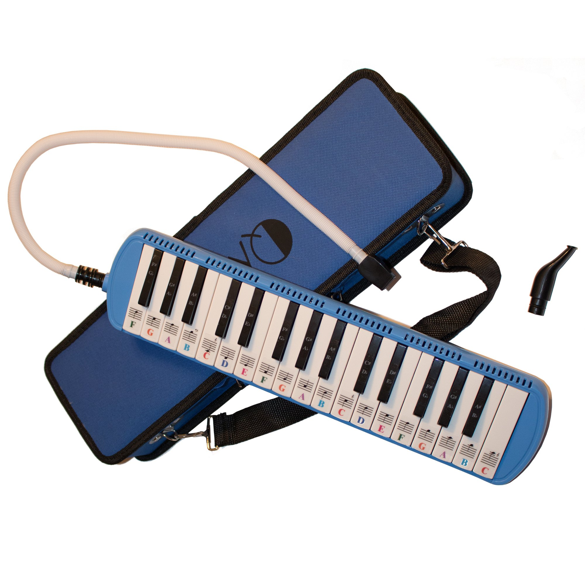 Melodica 32 Keys with Piano Stickers, Hard Cover Carrying Case, Mouthpiece, and Piano Ebook by QMG (Image #5)