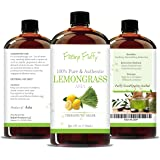 Feeling Fluffy 100% Pure Lemon Grass Essential Oil - 4 oz (118 ml) - Therapeutic Grade Aromatherapy Oil - Perfect to Add to Dryer Balls