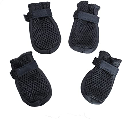 Amazon Com Hiado Dog Shoes Boots With Mesh Nonslip Rubber Soles