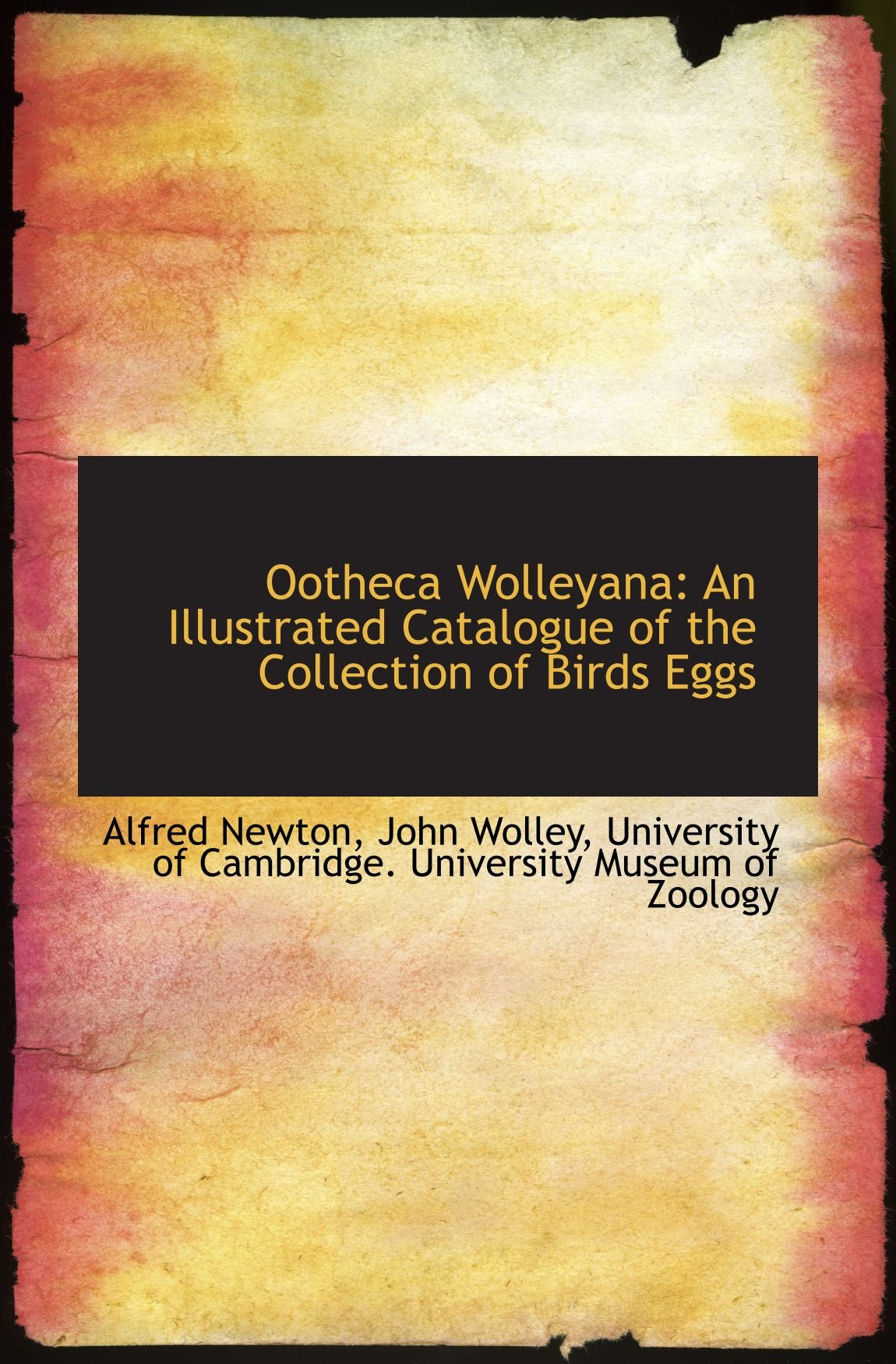 Download Ootheca Wolleyana: An Illustrated Catalogue of the Collection of Birds Eggs ebook