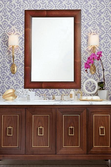 Buy Zahab Red Fiber Frame Wall Mirror for Bathroom || Size 15x1x21 ...