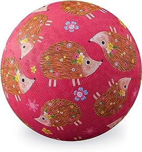 "Crocodile Creek 2125-1 Hedgehogs Playground Ball, 5"", Pink"