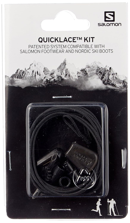 Salomon Quicklace Kit Schnürsystem Noir (Black) Taille Unique