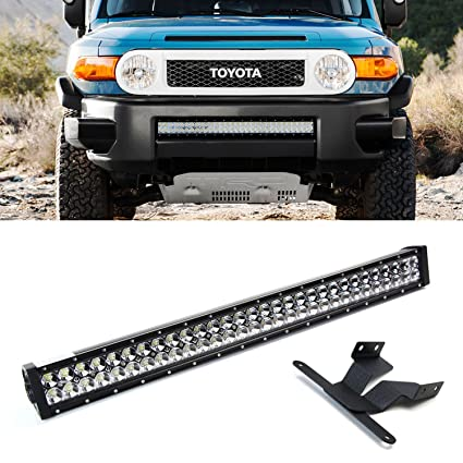 Amazon ijdmtoy 30 180w high power double row led light bar w ijdmtoy 30quot 180w high power double row led light bar w lower bumper mozeypictures Choice Image