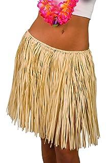 SmiffyS 22326 Falda Hawaiana Con Cintura Elástica, Amarillo ...