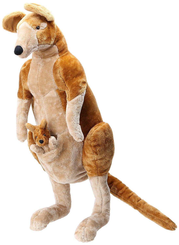 Melissa /& Doug Giant Kangaroo and Baby Joey in Pouch Lifelike Stuffed Animal Nearly 1 Meter Tall