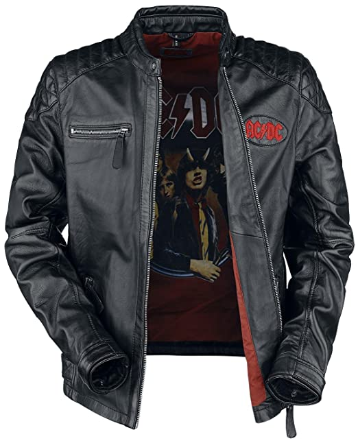 huge discount 83adc 1991e AC/DC Hurricane Giacca Pelle Nero L: Amazon.it: Abbigliamento