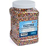 Nonpareils Sprinkles Bulk - Rainbow Non Pareil Sprinkles in Resealable Container, 2.7 LB Bulk Candy