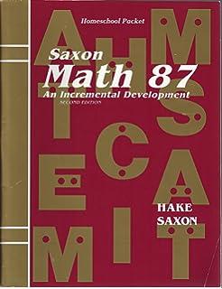 Saxon math 87 an incremental development stephen hake saxon math 87 an incremental development homeschool packet fandeluxe Gallery