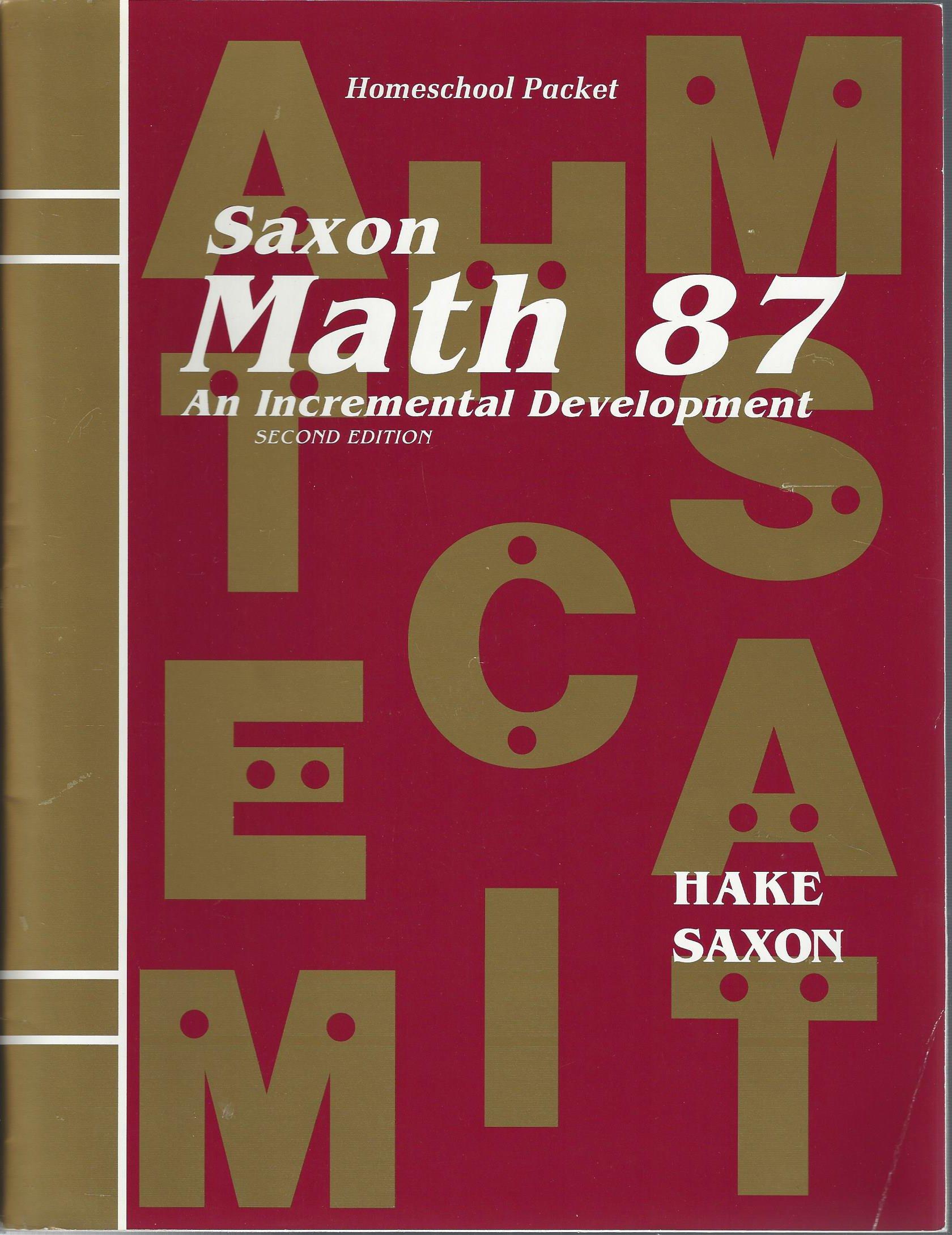 Math 87 2e Answer Key & Tests (Saxon Math 8/7): Amazon co uk