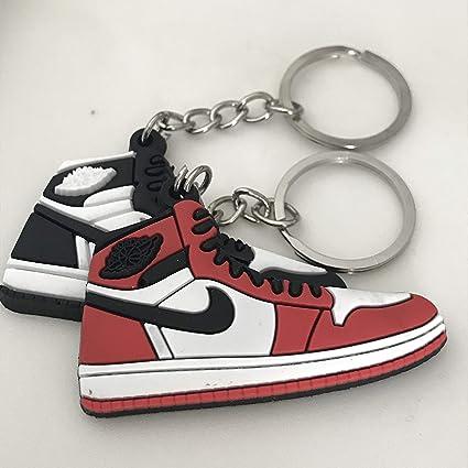 9a9e353e4d71 Amazon.com   Shoe Sneaker Keychains AJ-1 Retro 2 Pack   Sports ...