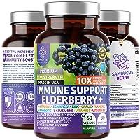Premium Immune Support Booster, Powerful [10-in-1] Elderberry, Zinc, Vitamin C,...