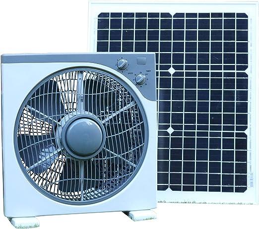 PK Green Ventilador Solar 12V 40W para Invernadero, Caravana ...