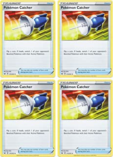 product image for Pokemon Card - Pokemon Catcher - Sword and Shield Base - x4 Card Lot Playset - 175/202 Uncommon
