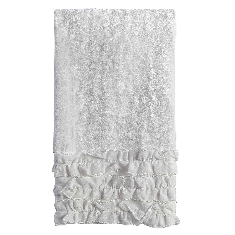 amazon com creative bath products ruffles hand towel home kitchen